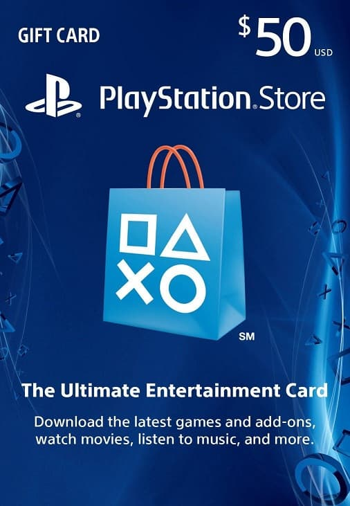 Playstation Store $50 GC for $42.50