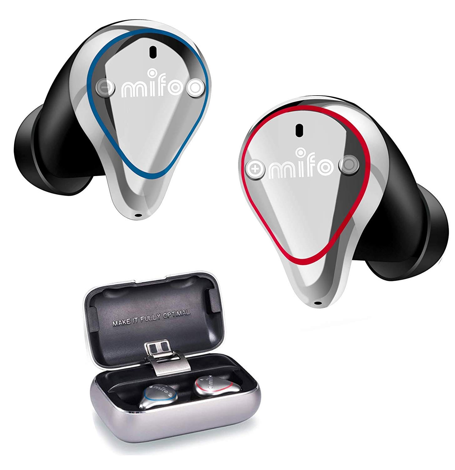 Mifo O5 Bluetooth 5.0 IPX7 Waterproofed Bluetooth Earbuds, 100 Hours Playback Noise Cancelling Headsets $49.58