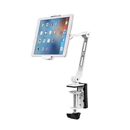 Suptek Aluminum Tablet Desk Mount Stand 360° Flexible Cell Phone Holder for iPad, iPhone, Samsung, Asus and More 4.7-11 inch Devices $19.79