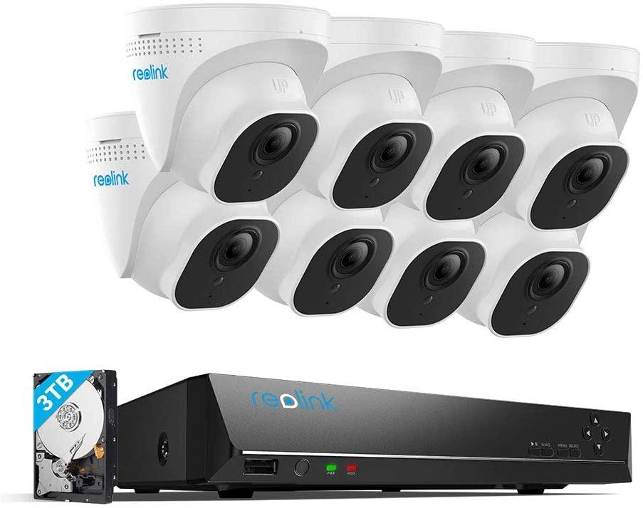 Reolink RLK16-800D 4K 16CH PoE System - H.265 8pcs 4K Cameras w/ 3TB HDD, $764.99