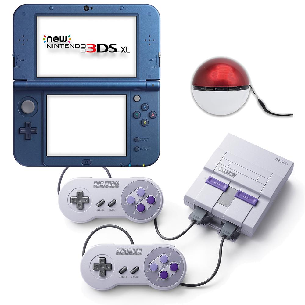 Walmart Bundle: SNES + 3DS XL Galaxy +  Power Bank Bundle $279 + FS
