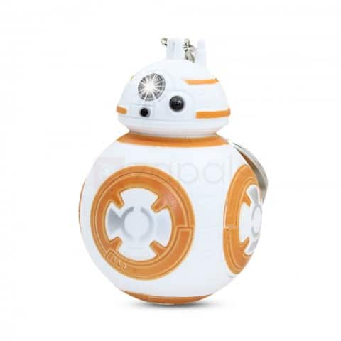 BB-* Light Up Keychain. 3D Star Wars BB-8 Robot Keychain with Light and Sound. 60 cents.