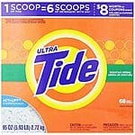 Tide Ultra Mountain Spring Scent Powder Laundry Detergent 68 Loads 95 Oz $10.33 or as low as $9.14 FS w S&S