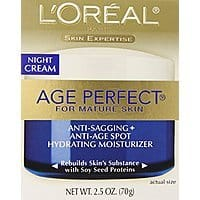 L'Oreal Paris Age Perfect Night Cream, 2.5 Fluid Ounce $  7.45 or as $  6.34 FS with S&S