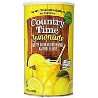 Amazon Deal: Country Time Lemonade Drink Mix Canister, 82.5 Ounce $4.12 or as low as $3.57 FS with S&S