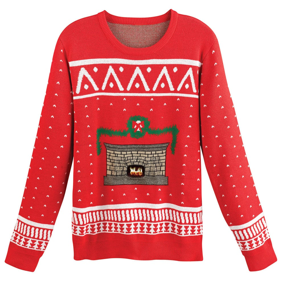 Ugly Christmas Sweater with Crackling Fireplace $42.94