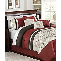 Macys Deal: 7-pc embroidered comforter sets (twin, full, queen, king, calking) $60 (reg. $200-$240) at Macys