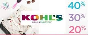 Kohl's Mystery Savings Coupon: 40% 30% or 20% Valid on 05/20/18 only