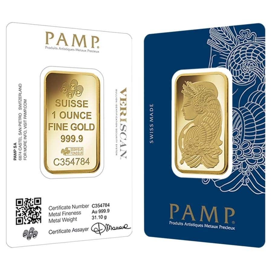 1 oz Gold Bar PAMP Suisse  $1,315.50. eBay