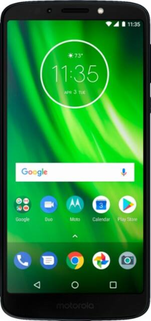 Motorola - Moto G6 Play with 32GB Memory Cell Phone (Unlocked) - Deep Indigo + $40 simple mobile airtime $191