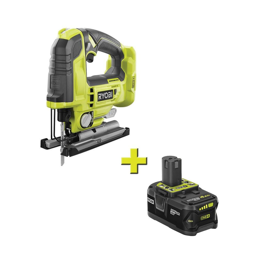 RYOBI 18-Volt ONE+ Cordless Brushless Jig Saw with 4.0 Ah Lithium-Ion Battery $129