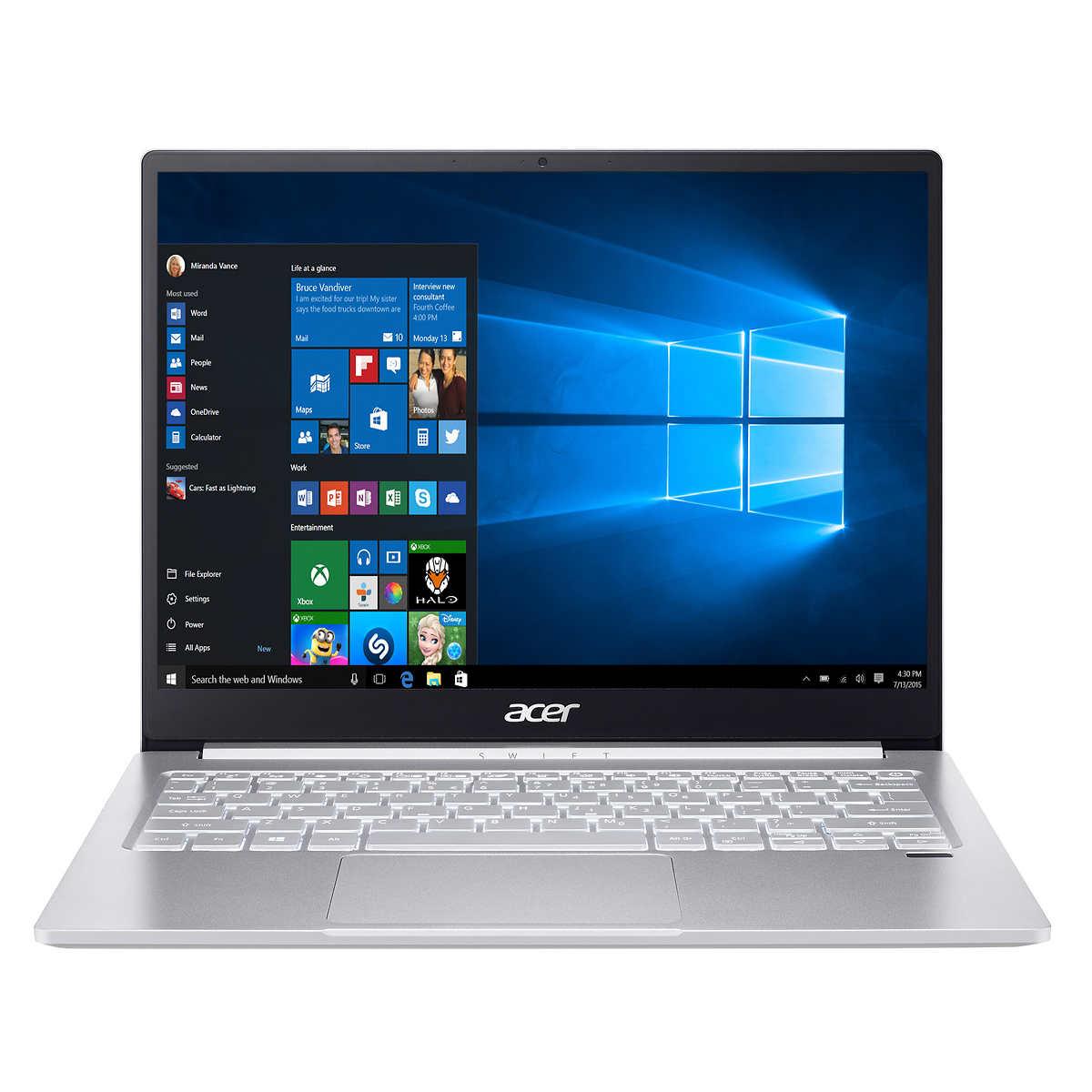 "Acer Swift 3 13.5"" Intel Evo Platform Laptop - 11th Gen Intel i7-1165G7 - 2256 x 1504 Display $800"