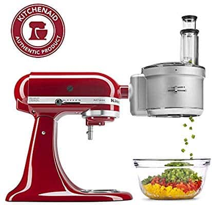 KitchenAid KSM2FPA Food Processor Attachment with Commercial Style Dicing Kit $112