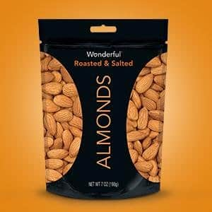 7-Ounce Wonderful Almonds (Roasted & Salted) $2.85 w/ S&S + Free S&H