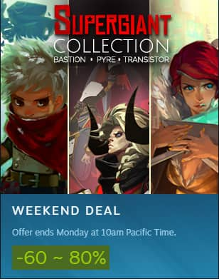 PCDD Steam: Super Giant Games Weekend Sale