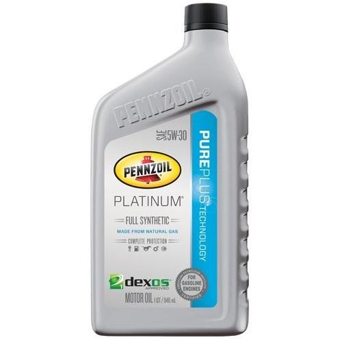 Pennzoil 5W-30 Platinum Full Synthetic Motor Oil - 1 Quart [1 Quart, New Packaging] $5.27