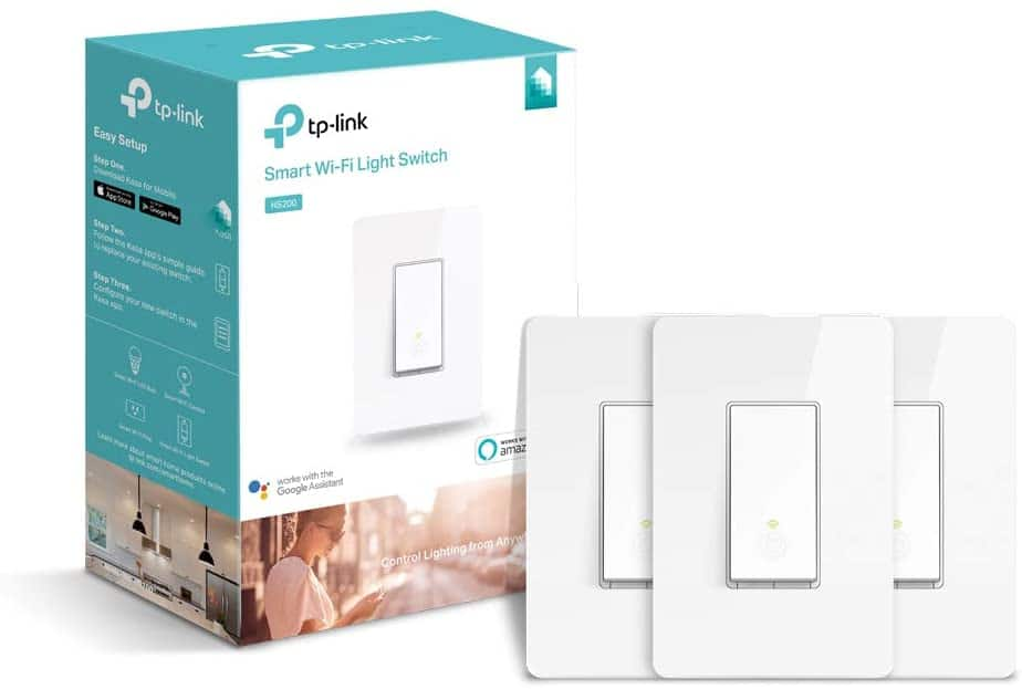 Kasa Smart Light Switch by TP-Link,Single Pole,Needs Neutral Wire,2.4Ghz WiFi Light Switch Works with Alexa and Google Assistant,UL certified, 3-pack(HS200P3) $38.24