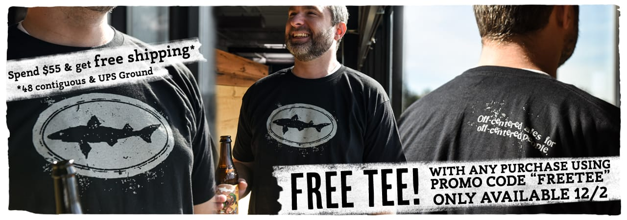 Dogfish Head Craft Brewery Free T-Shirt with ANY order!