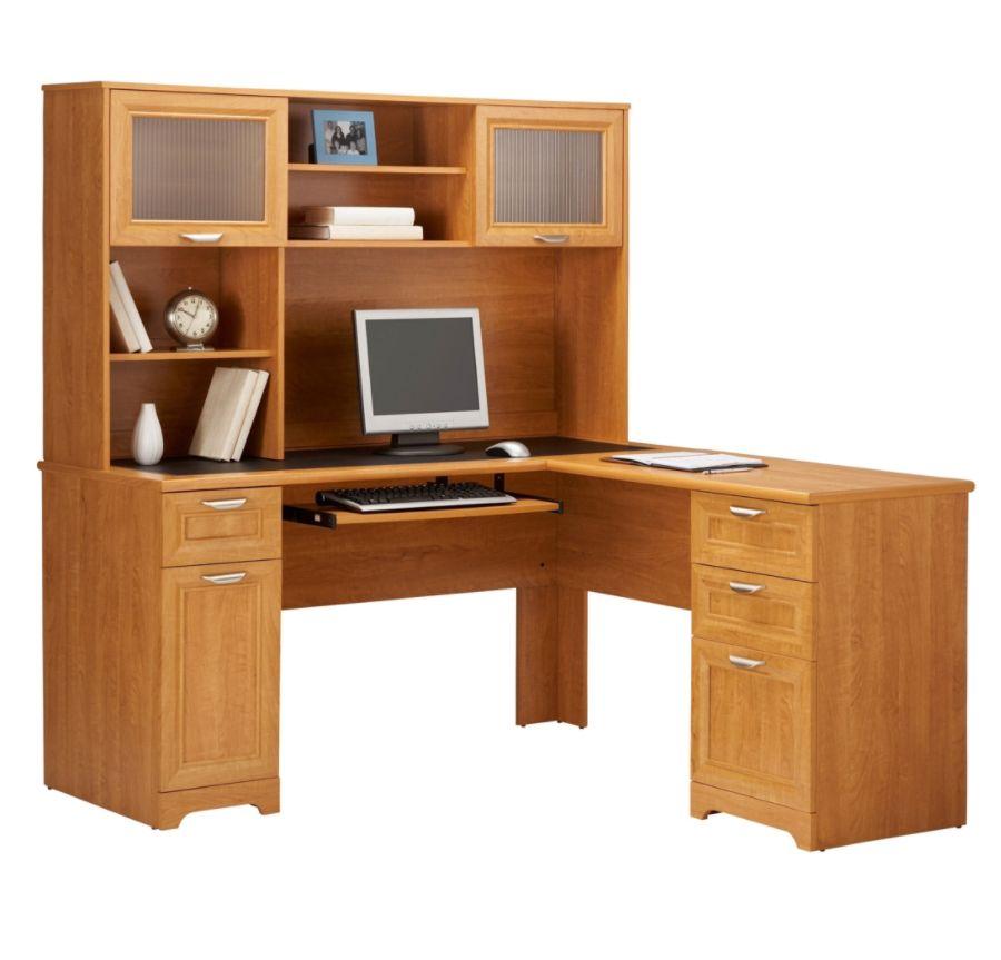 Realspace Magellan L-Shaped Desk, Honey Maple $95 + 33% Back, Corner Desk $57 YMMV Store Pickup Only @ Office Depot