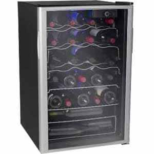 Soleus WK6 Single Zone 36 Bottles Wine Cooler, Reversible Doors, Black - $11.46 @ Frys.com