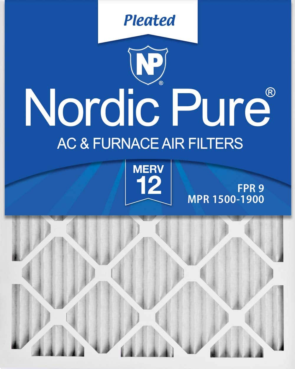Nordic Pure 20x25x1 MERV 12 Pleated AC Furnace Air Filters, 6 PACK, 6 Count - Amazon Prime - $27.95