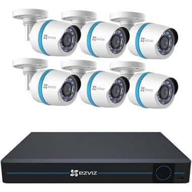 EZVIZ 8 Channel 1080p HD IP NVR Security Surveillance System with 2TB HDD, 6 1080p POE Bullet Cameras $499 FS