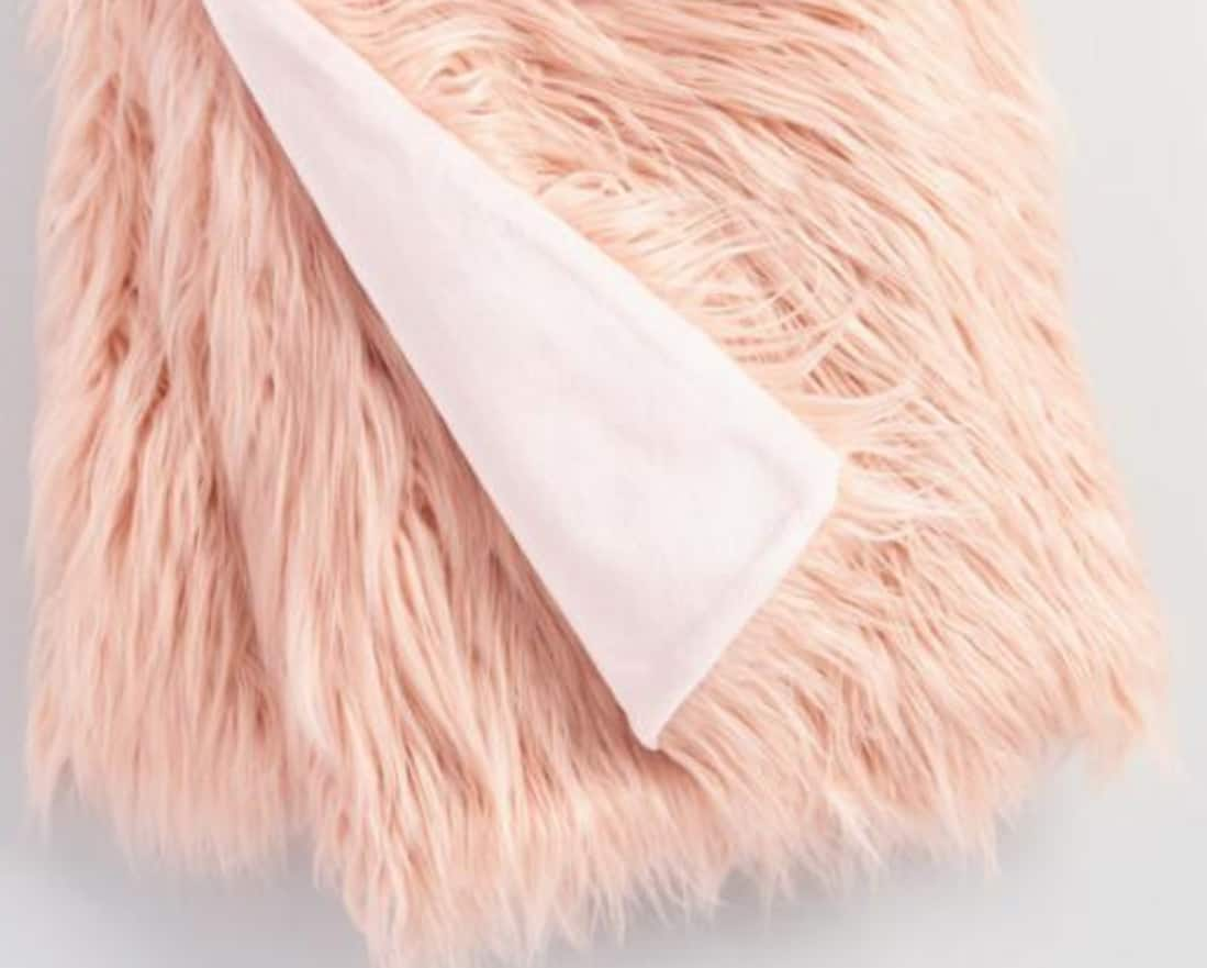 "40""x60"" Mongolian Faux Fur Throw $16.99 Ship to Store"