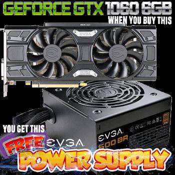 EVGA: GTX 1060 6GB Graphics Card + 600W Bronze Power Supply