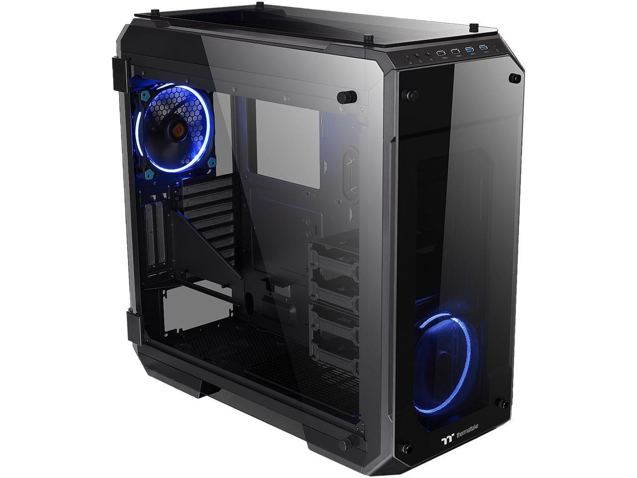 Thermaltake View 71 4-Sided Tempered Glass Vertical GPU Modular SPCC E-ATX Gaming Full Tower Computer Case $99.99