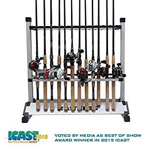 KastKing Lightweight Aluminum Fishing Rod Rack $44.98 (12 Rods), $54.98 (24 Rods) AC + FS @ Amazon