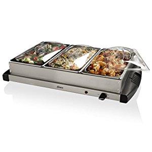Oster Triple 2.5-Quart Stainless Steel Buffet Server w/ Warming Tray $22.49 via Amazon