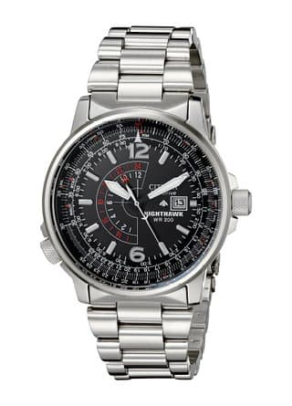 Citizen Nighthawk Men's Stainless Steel Watch $155 Shipped at Amazon