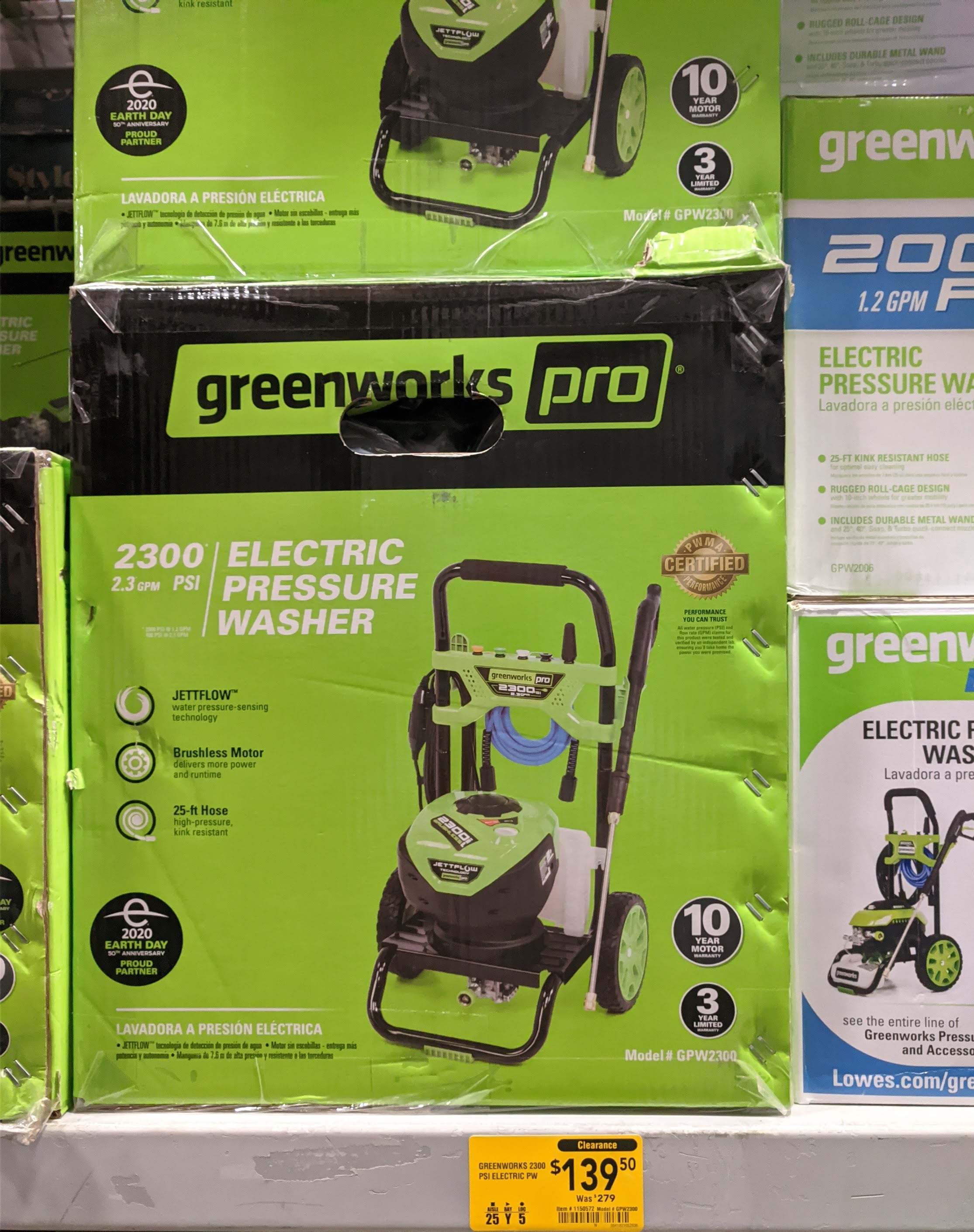 YMMV **Greenworks Pro GPW2300 Brushless Pressure Washer $139.45