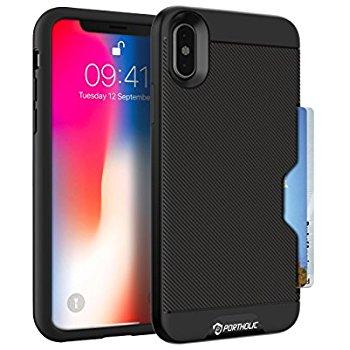 Portholic: iPhone X/10 Wallet Case, Black, $3.90 AC/Shipping
