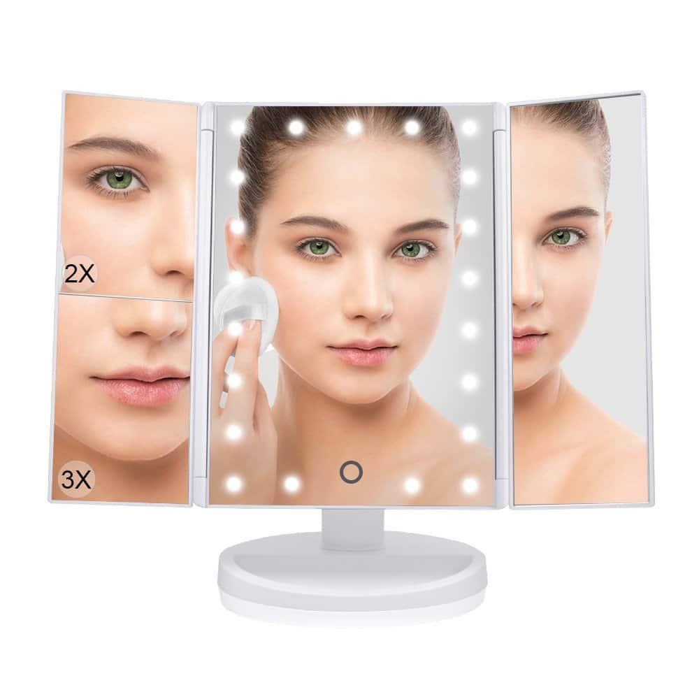 LED Tri-fold Makeup Vanity Mirror, $15.99 AC/Shipping