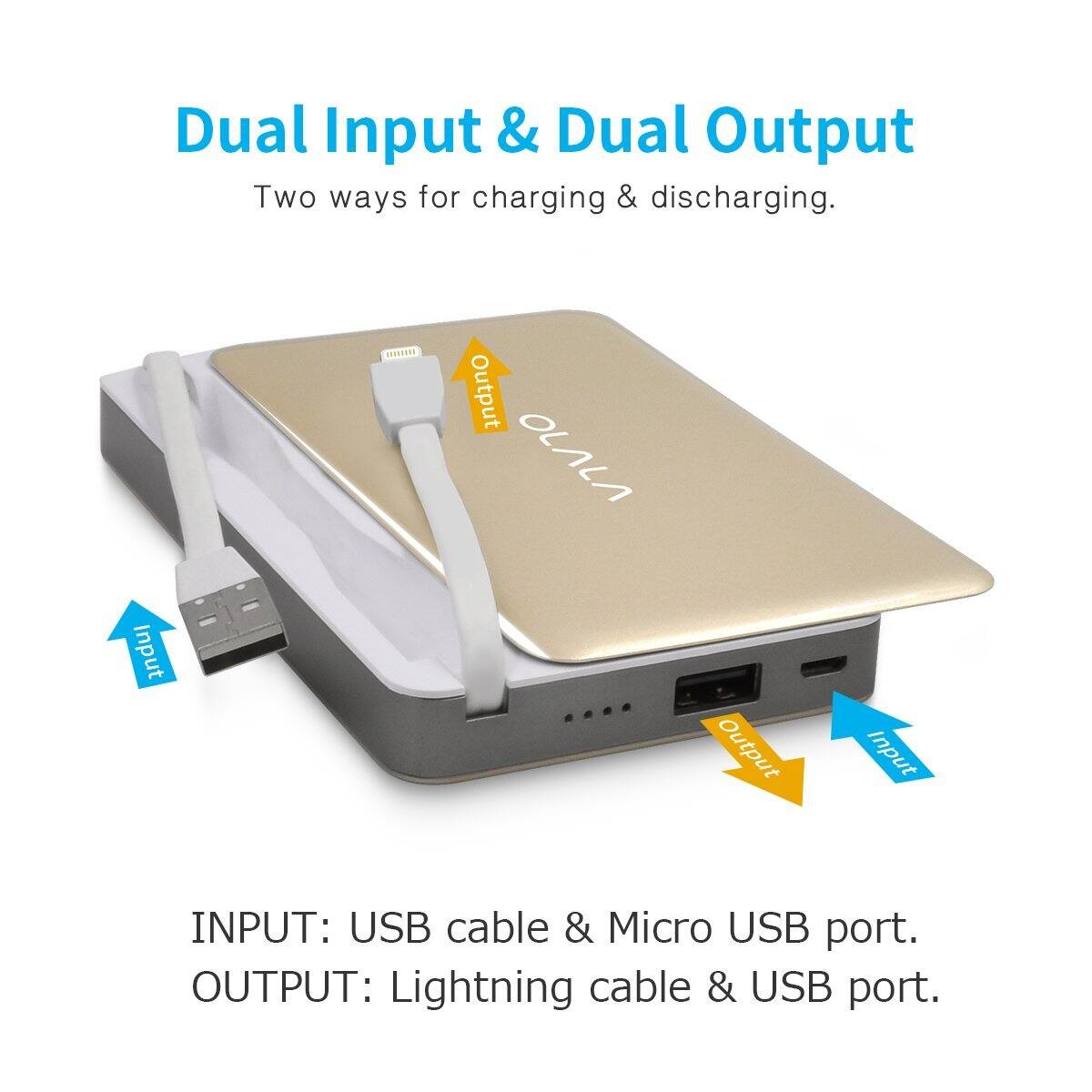 Olala @ Amazon: 7500mAh Sliding Power Bank (Lightning/USB Cable built-in), $24.81 AC/Shipping