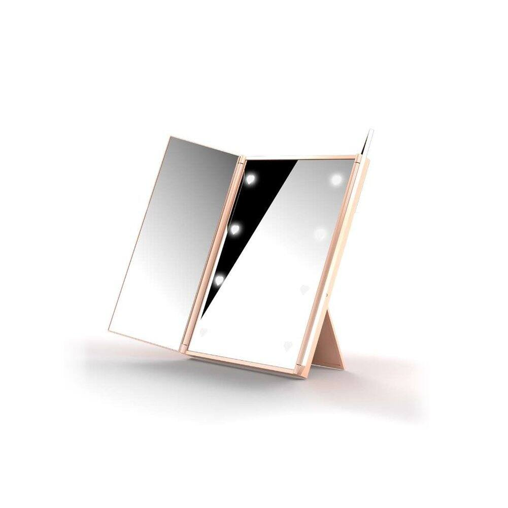Expower Tri-Fold LED Vanity Mirror, $9.99 AC/Prime Shipping