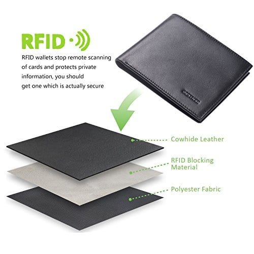 Genuine Leather, RFID Men's Wallet: $11.89 AC/Shipping @ Amazon