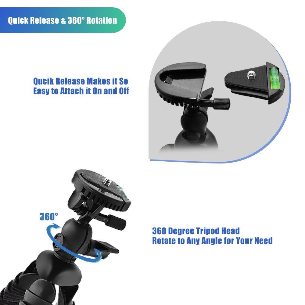 Bluewind 12-inch Flexible Tripod/Camera mount, $6.80 AC/Prime Shipping