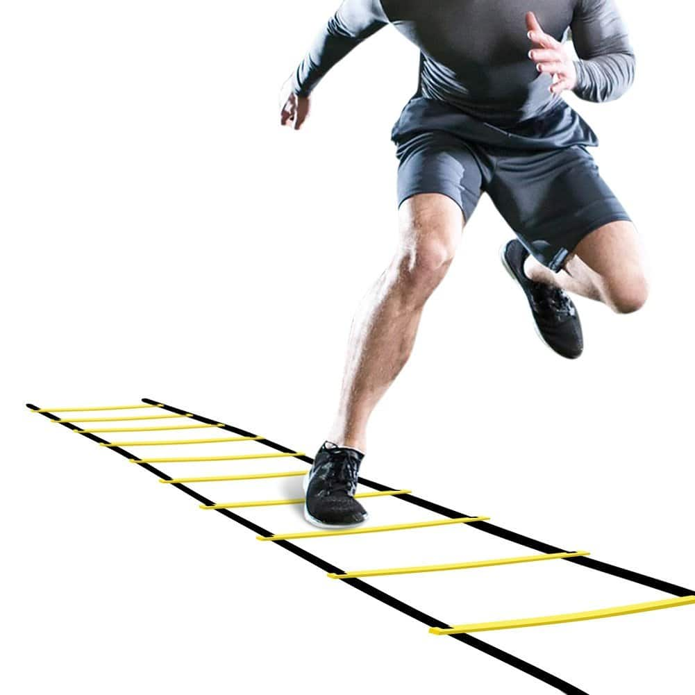 Agility Ladder Agility Training Ladder Speed Flat Rung with Carrying Bag, Free shipping for Prime $7.92
