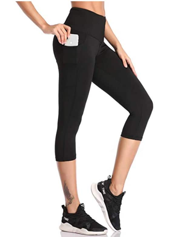 Womens Leggings with Pockets High Waist Tummy Control Workout Running, Yoga Pants, $12.59