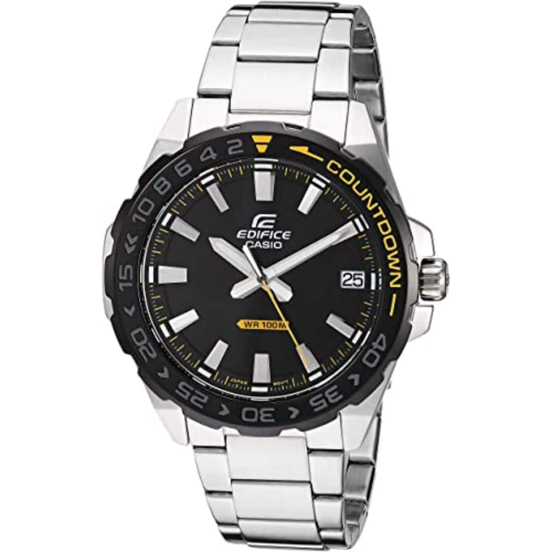 Casio Men's Edifice Stainless Steel Watch EFV120DB-1AV $26.49
