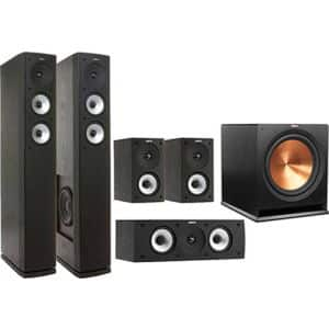 Klipsch / Jamo 5.1 Speaker Package  Fry's $719. Klipsch SW115, 2 Jamo s626's, 2 Jamo S622, and 1 Jamo S62 Center.. Ad says with Promo code, but working in cart without!