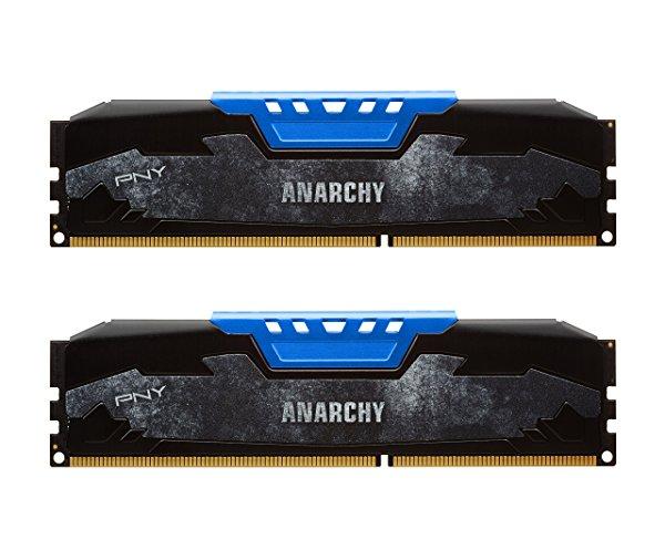 PNY Anarchy 16GB Kit (2x8GB) DDR3 1866MHz (PC3-14900) CL10 Desktop Memory (BLUE) $79.99