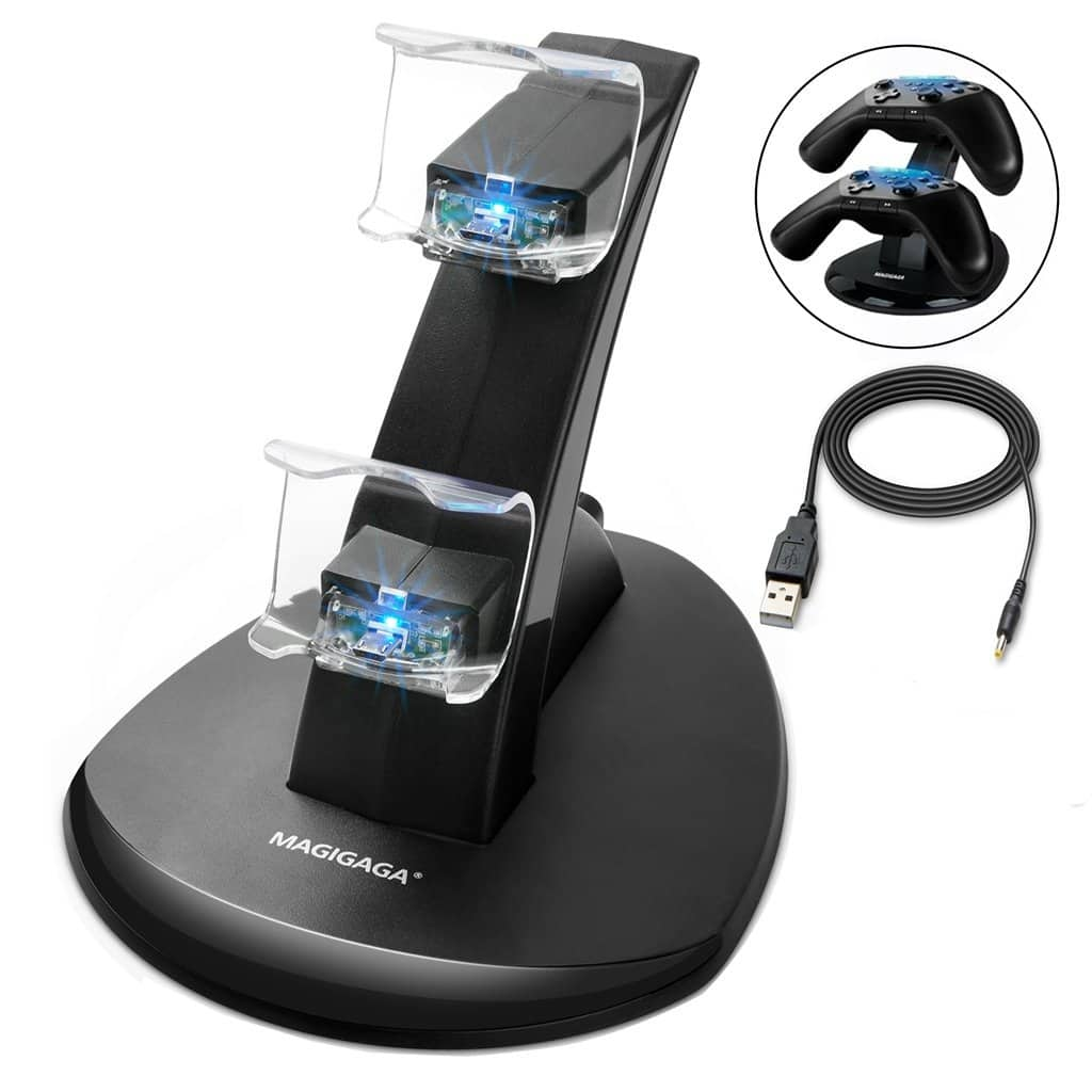 PS4 Controller Charger, Dual USB Charging Docking Station Stand $7.99