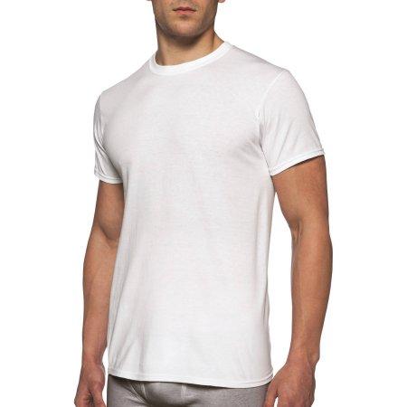 Gildan Mens Short Sleeve Crew White T-Shirt, 6-Pack $9.97