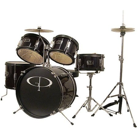 GP Percussion 5-Piece  16-inch Junior Drum Set (Black) $150.00  Walmart Online Only with Free 2-day Shipping