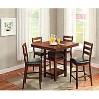 Walmart Deal: 5-Piece Counter Height Dining Set $239 +FS or pickup today