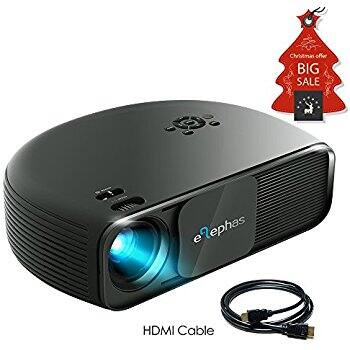 ELEPHAS HD LED Movie Projector, with 3500 Luminous Efficiency LCD Video Projector Support $135