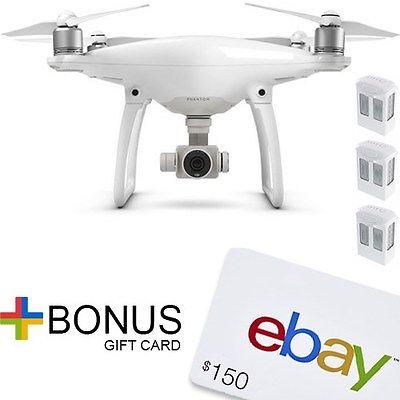 DJI Phantom 4 + 2 extra batteries (3 total) + $150 eBay Card // DJI authorized dealer // $1399